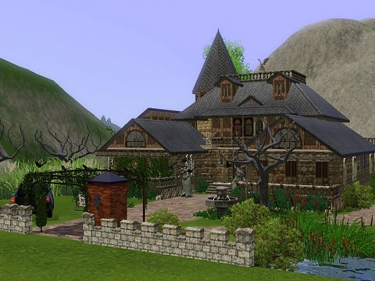 Sims 3 residential, building, house, vampire