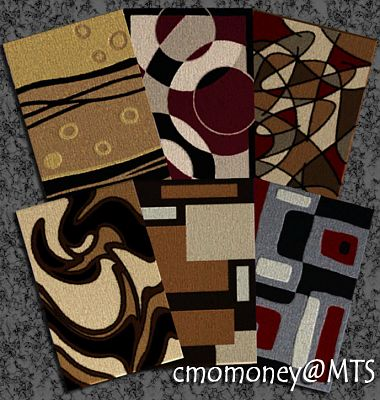 Sims 3 rugs, modern, decor