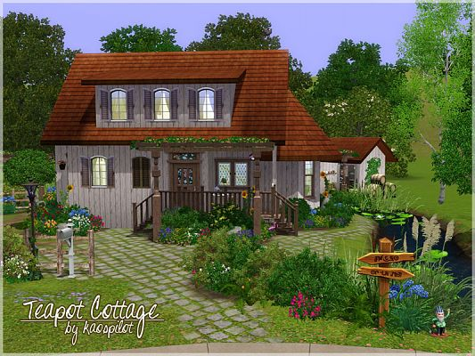 Sims 3 residential, lot, house, cottage