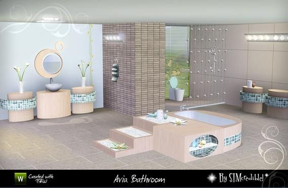 Sims 3 Updates The Resource Aria Bathroom By Simcredible