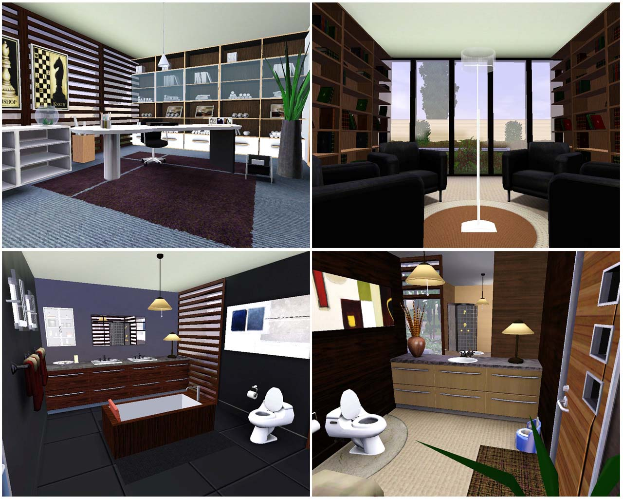 Sims 3 Modern House Interior Design