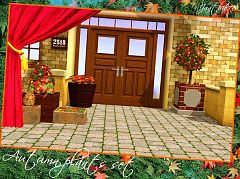 Sims 3 autumn, plants, decor