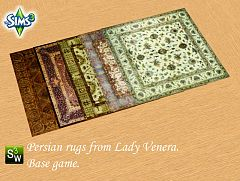 Sims 3 rugs, persian, decor, objects