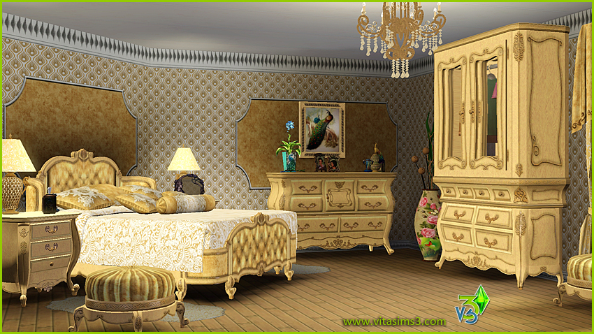 Sims 3 downloads from all over the world Custom Content Sites. Sims 3 Updates   Vita Sims3  Lavelle Truffle bedroom set at Vita Sims3