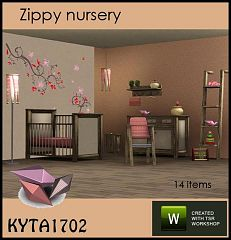 Sims 3 nursery, kids, decor,  furniture