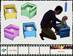 Sims 3 potty, chair, furniture, kids
