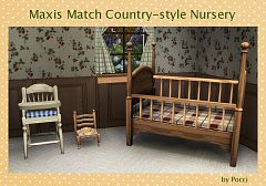 Sims 3 nursery, kids room, furniture, decor