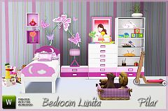 Sims 3 bedroom, children, furniture, decor, objects