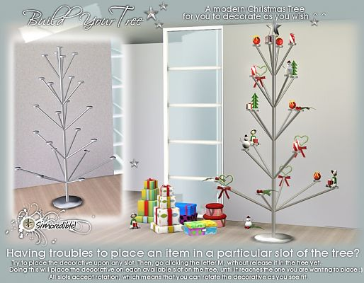 Sims 3 object, decor, christmas, tree, candle