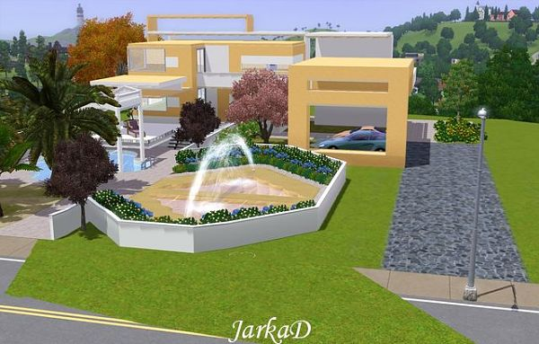 Sims 3 house, build, lot, residential, villa