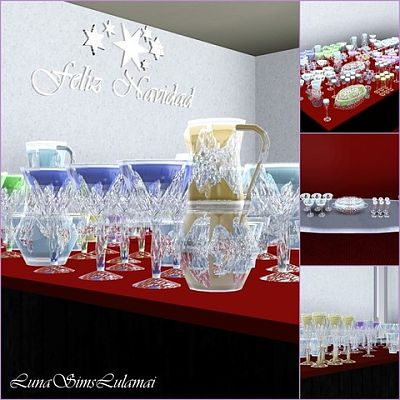 Sims 3 glass, cristal, decor, objects