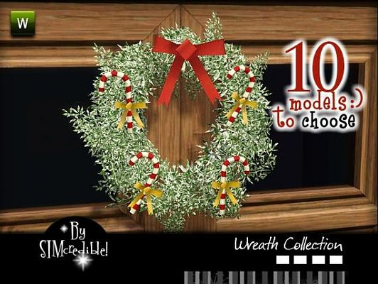 Sims 3 wreath, decor, object, set