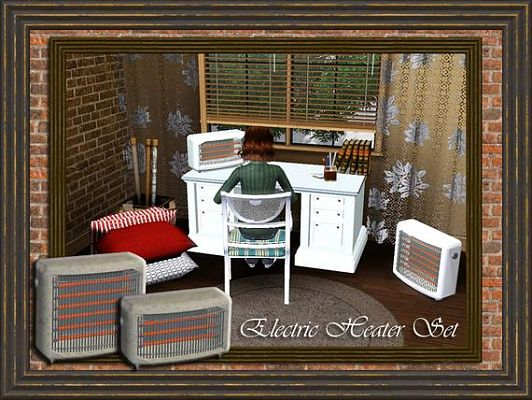 Sims 3 decor, objects, heater, set