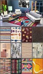 Sims 3 rugs, objects