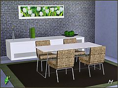 Sims 3 Furniture, set, objects, chair, chairs, table, diningroom