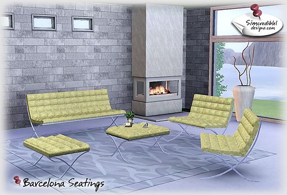 Sims 3 living, livingroom, seatings, chair, loveseat, stool, cofeetable, rug