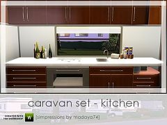 Sims 3 kitchen, counters, furniture, decor, objects
