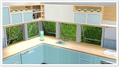 Sims 3 kitchen, counters, furniture, decor, objects, livingroom