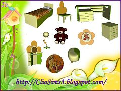 Sims 3 bedroom, kids, room, furniture, decorative, objects