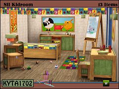 Sims 3 bedroom, kids, decorative, objects, furniture