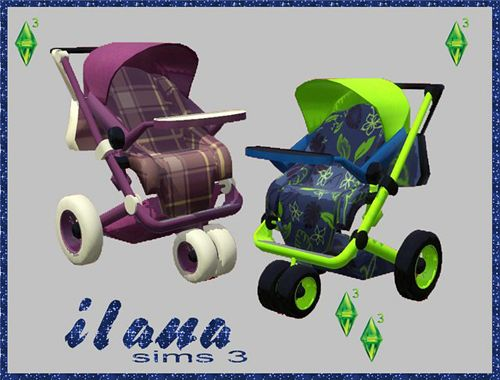 Sims 3 stroller, baby, object