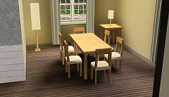 Sims 3 diningroom, furniture, objects