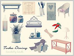Sims 3 diningroom, furniture, objects, decor