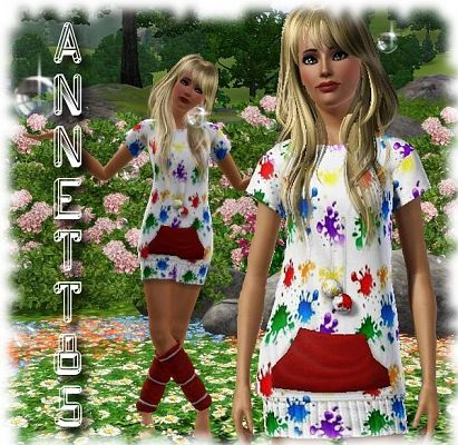 Sims 3 pattern, floral