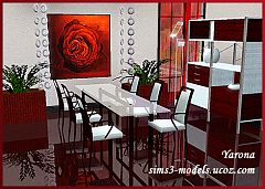 Sims 3 dinning, dinning room, furniture, objects