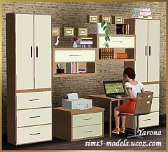 Sims 3 office, set, furniture, objects, study