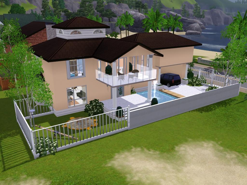 Planos casas sims 4 villa sueno furnished by ayyuff at for Planos de casas sims