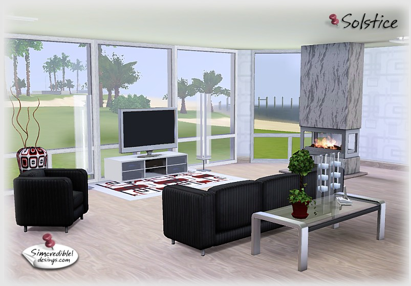Sims 3 living room designs for Living room ideas sims 3
